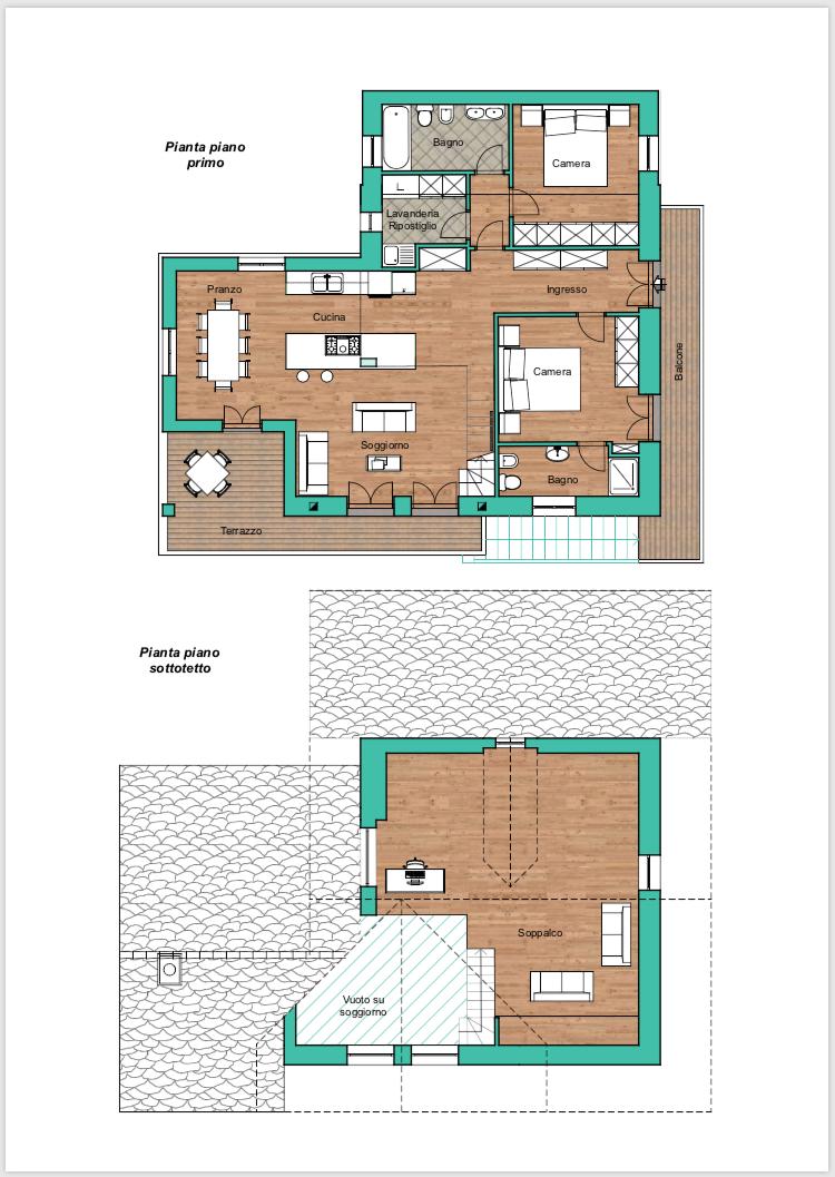 piano attico mansarda